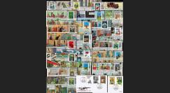 Belgique 2007 : série 22 FDC Tintin Centenaire Hergé 1907-2007