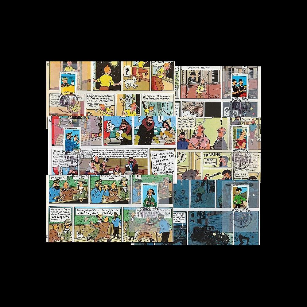 France 2007 : série 6 FDC Tintin Centenaire Hergé 1907-2007