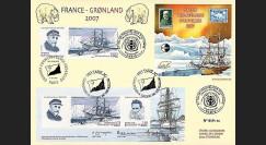 France 2007 : Maxi FDC Emission commune France - Groenland