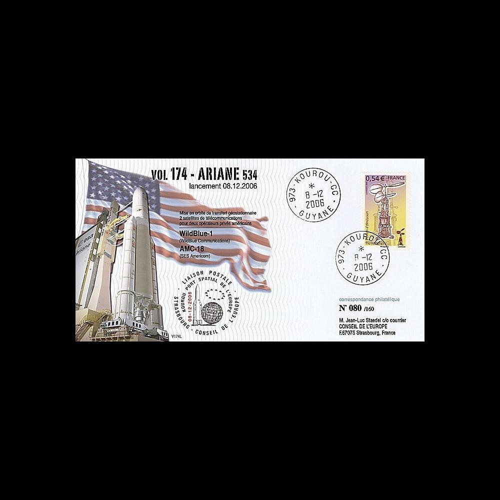 V174L-T1 - France 2006 : FDC Kourou Vol 174 Ariane 534
