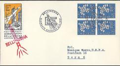F33 - Suisse 1961 : courrier transporté par fusée postale 'Bellinzona'