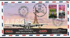 A380-48 T2 - 2007 : A380 - 1er atterrisage Roissy-Ch. de Gaulle Paris
