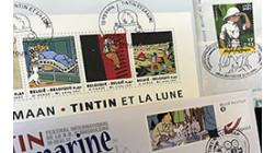Les aventures de Tintin et autres héros de BD vus par les timbres